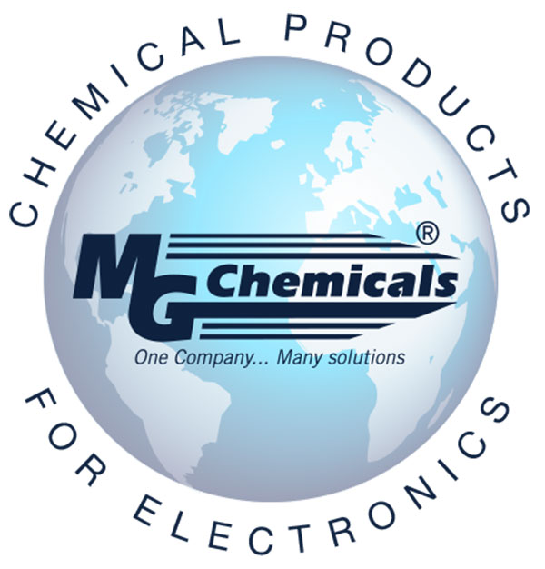 MG Chemicals is a manufacturer of dusters and cold sprays, specialized chemical cleaners for electronics, protective coatings, flux and flux removers, photochemicals, copper clad boards, cleaning swabs, technical cleaning brushes, and desoldering braid.