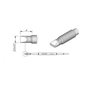 C210007 JBC Tools Soldering Chisel Cartridge Tip 2.3mm x 0.7mm