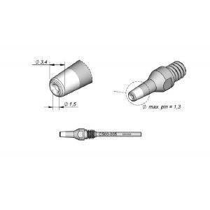 JBC Tools c560005 desoldering tip